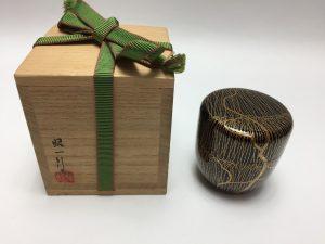 【棗】 田崎昭一郎 枝垂れ柳絵の棗を買取り致しました。