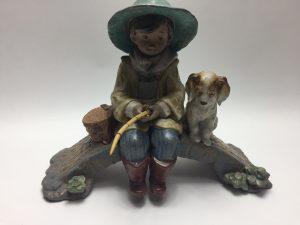 【西洋美術・リヤドロ】LLADRO 子犬と釣り人を買取致しました。