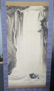 【掛軸・山水画】川端玉章 瀑布図の掛軸を買取り致しました。