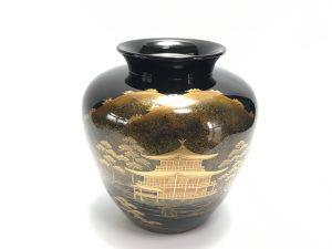 【茶道具・花入】平安象彦 金閣寺図の花瓶を買取致しました。