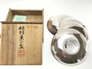 【金工品・煎茶道具】秦蔵六 純銀菓子盆を買取致しました。