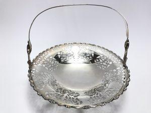 【金工品・煎茶道具】尚美堂 純銀製菓子器を買取致しました。