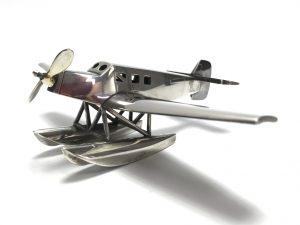 【銀製 置物】純銀製 帝國軍用飛行機を買取り致しました。