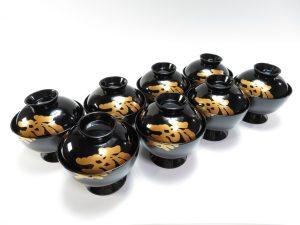 【漆器・蒔絵】萬砂「松影輪島塗吸物椀」を買取り致しました。
