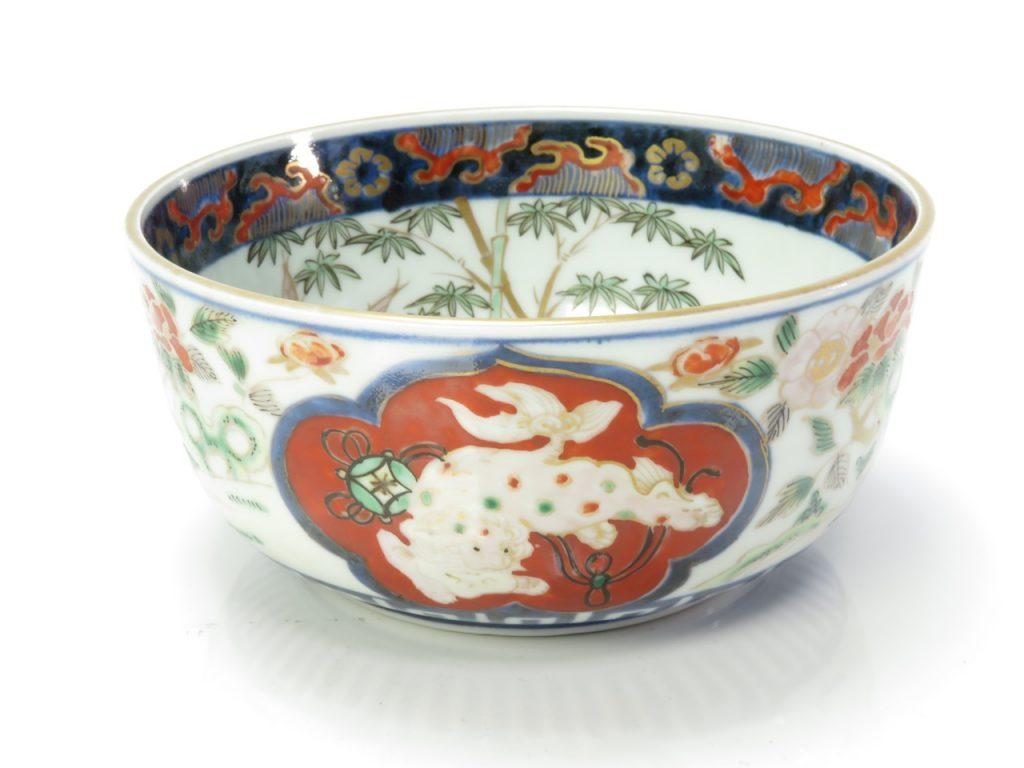 【陶磁器・古陶磁器】富貴長春銘の古伊万里鉢を買取を致しました。