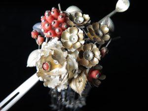 【簪・笄】花弁金属細密細工の簪を買取り致しました。