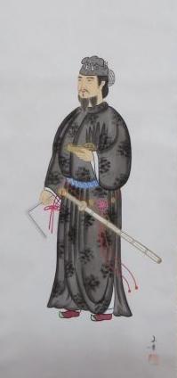 【人物画】渡辺玉豊「聖徳太子図」を買取り致しました。