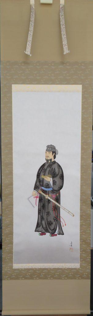 【掛軸・人物画】渡辺玉豊 聖徳太子図を買取致しました。