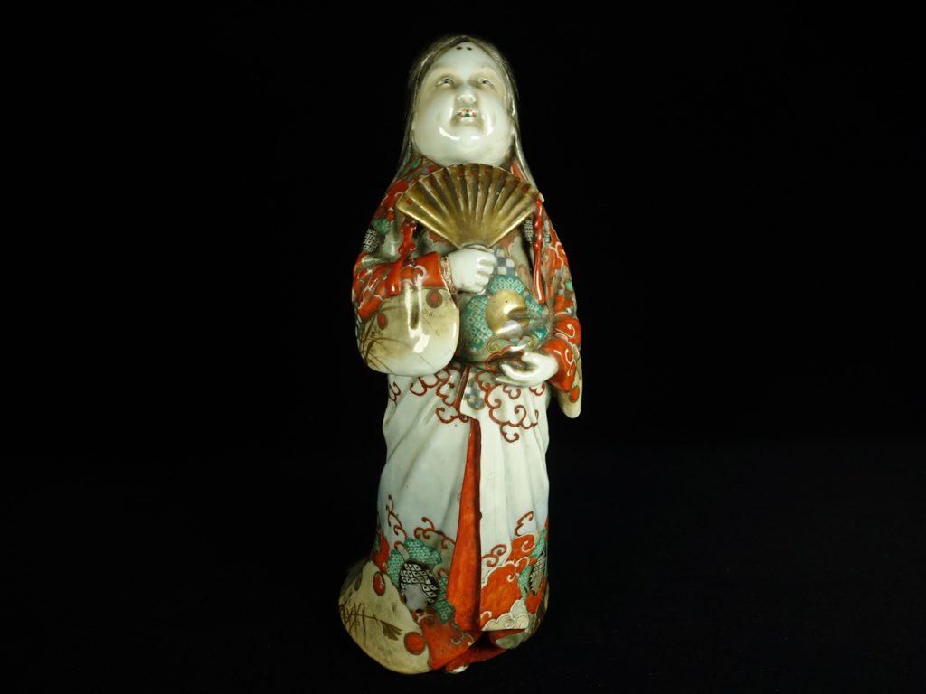 【陶磁器】無銘「九谷焼 陶器人形 お多福」を買取致しました。