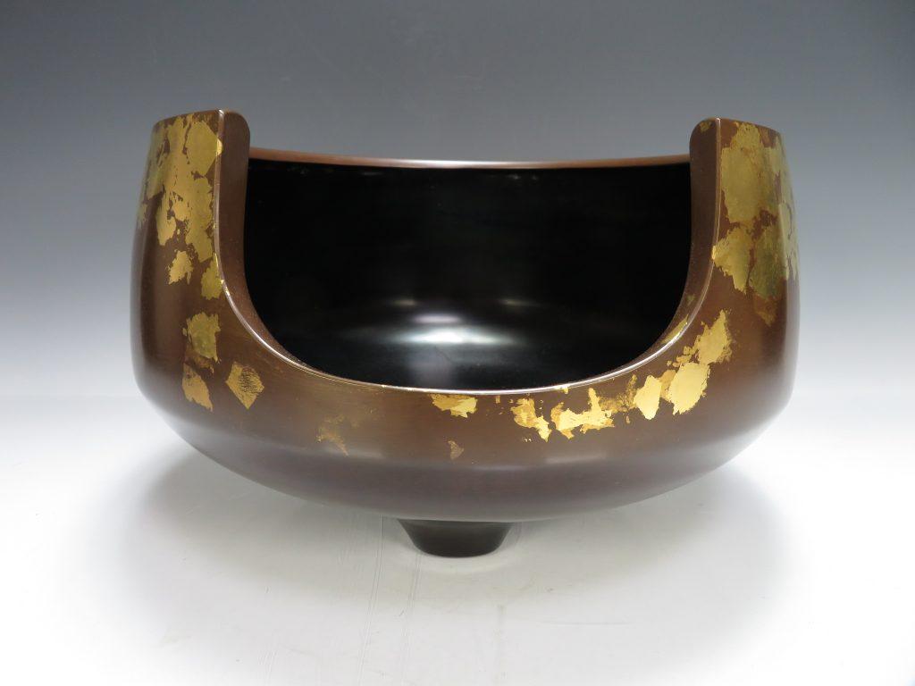【茶道具 その他】一ノ瀬宗辰 「金箔押道安風炉」を買取り致しました。