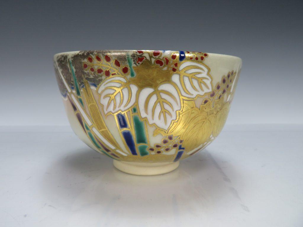 【茶碗】宮川香雲「竹に桐図金彩色絵茶碗」を買取致しました。