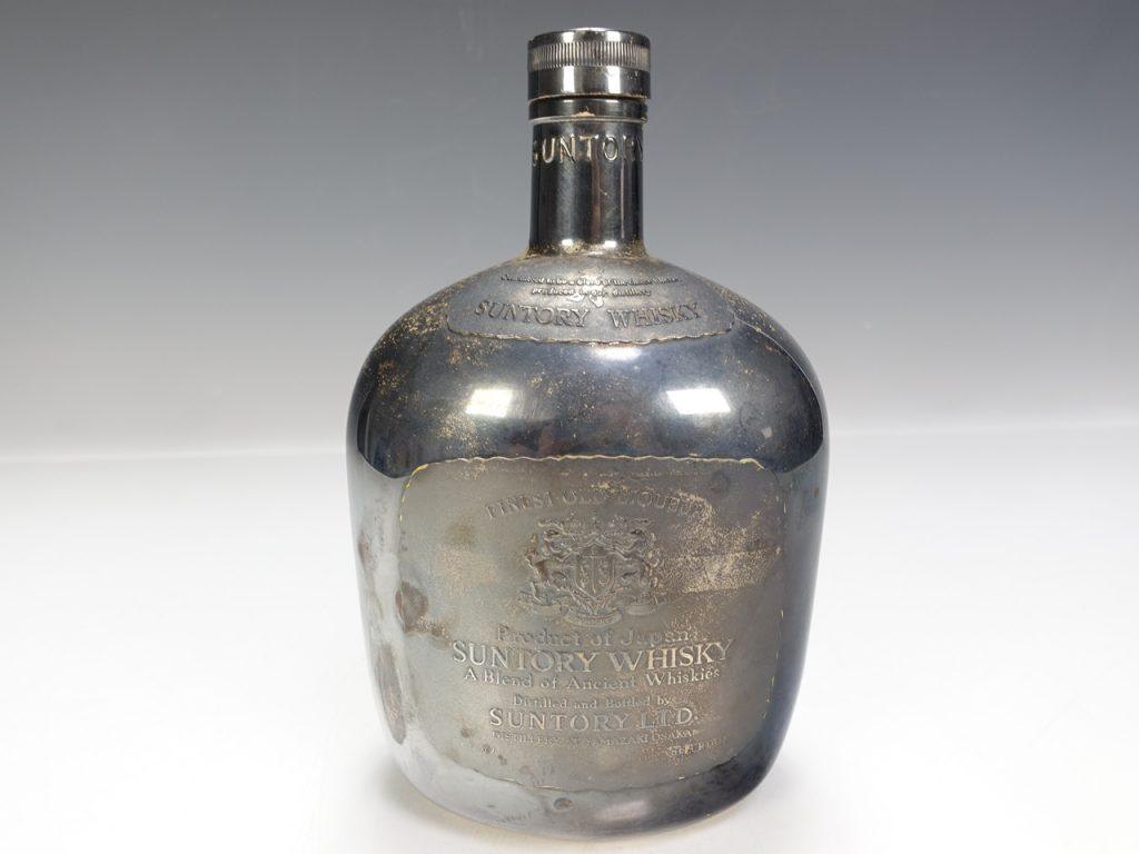 【銀製 置物】サントリーオールド 宮本商行製 空ボトル STERLINE SILVER 空ボトルを買取り致しました。