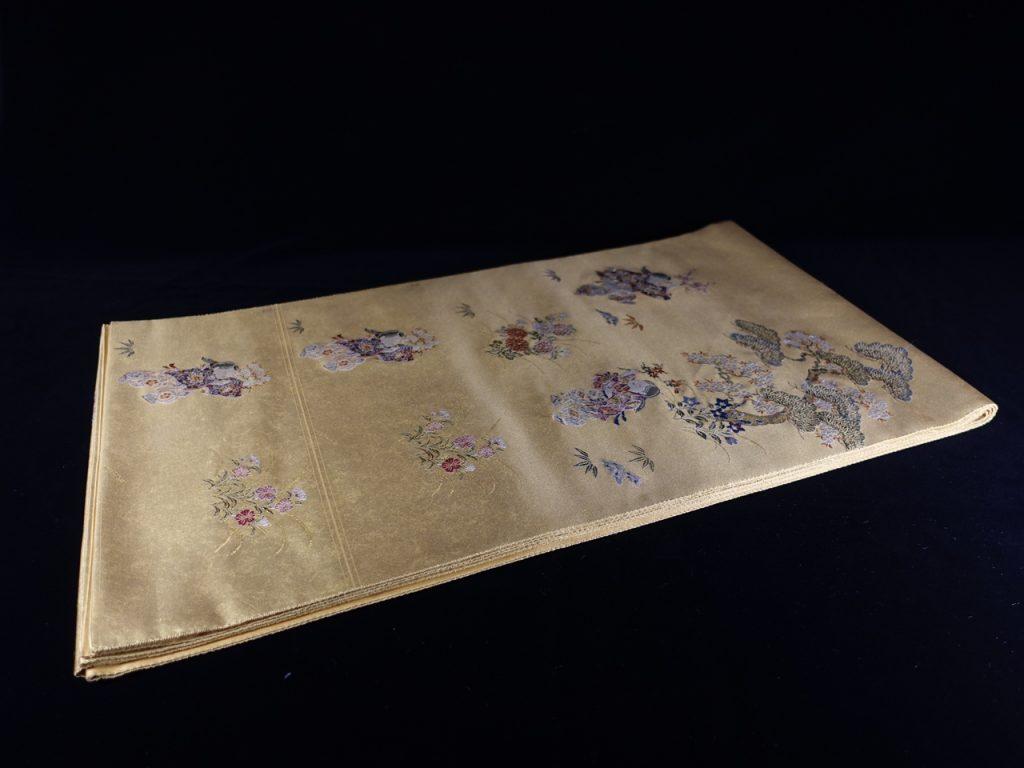 【和装小物】西陣長嶋成織物謹製 ながしま帯「瀞本金箔袋帯」を買取り致しました。