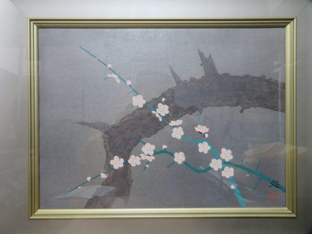 加山又造 『白梅』木版画