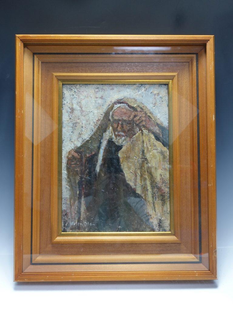 【油彩画(日本)】小田和典 「エルサレムの老人」を買取り致しました。