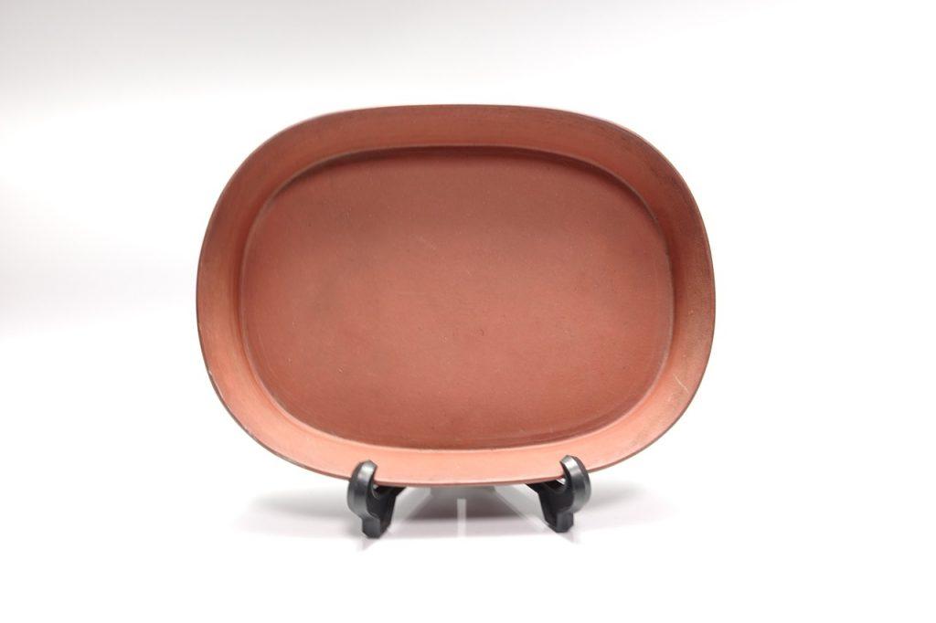 【中国骨董その他】康熙年間製「朱泥水盤」 を買取り致しました。