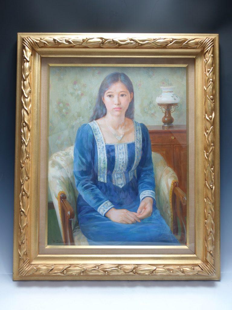 【油彩画(日本)】徳田宏行  「青衣」を買取り致しました。