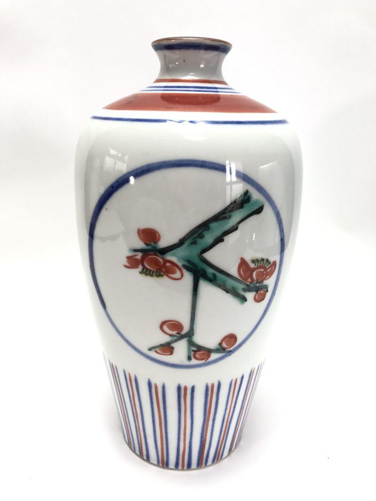富本憲吉 「色繪梅竹瓶」