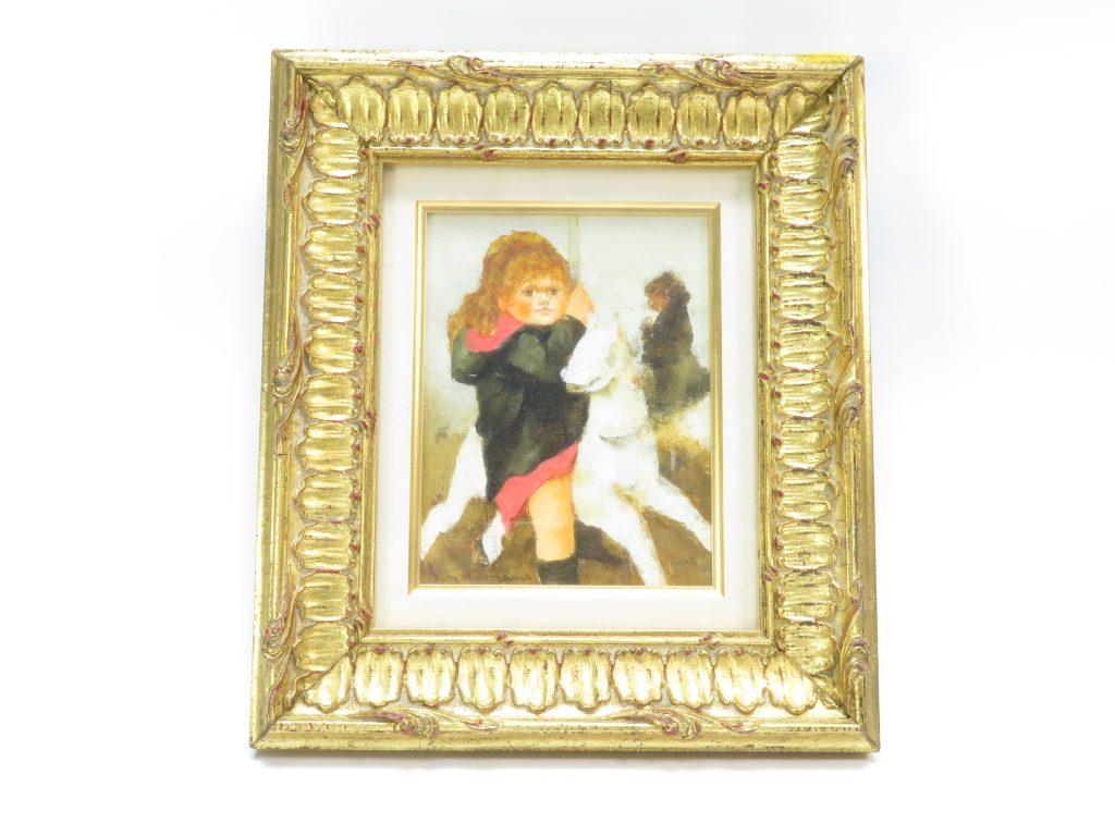 【油彩画(日本)】横山申生 「回転木馬の少女」を買取り致しました。