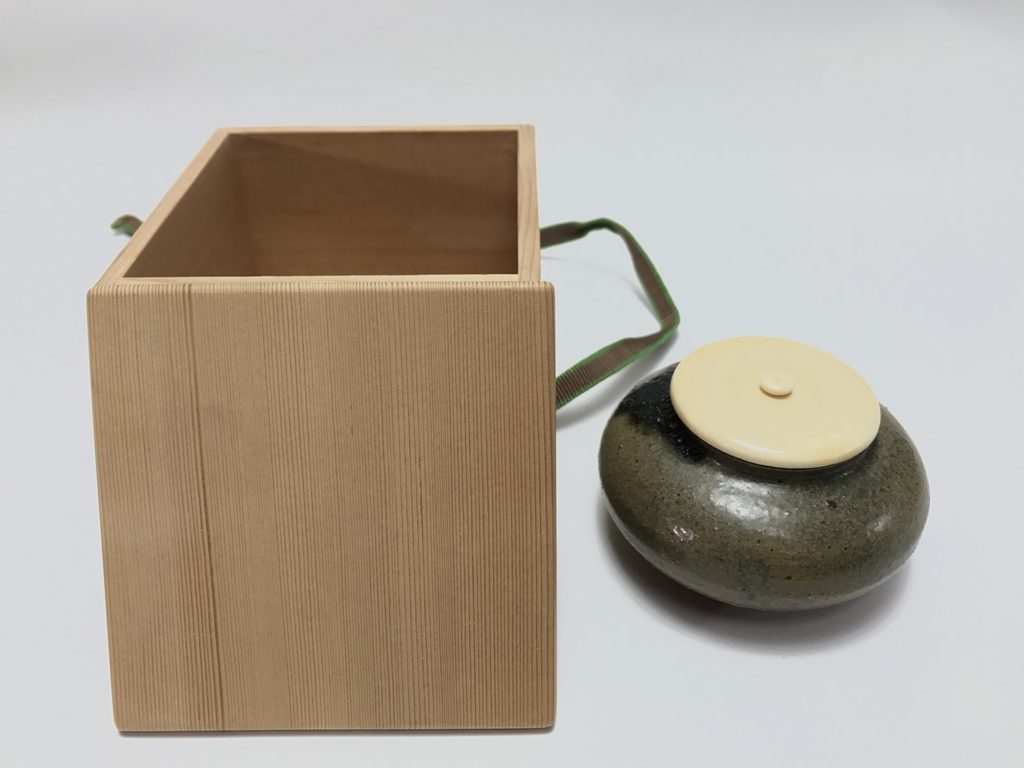 【茶入】市野陶勝  「丹波焼大梅茶入」を買取り致しました。