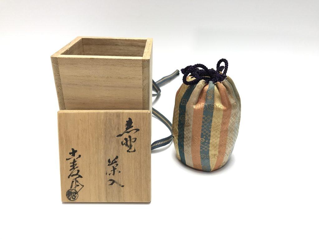 【茶入】水野吉麦 造「志野茶入」を買取り致しました。