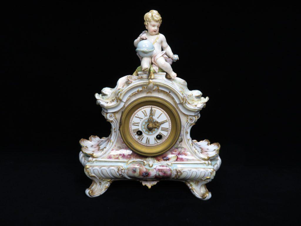 KPM 陶器人形時計