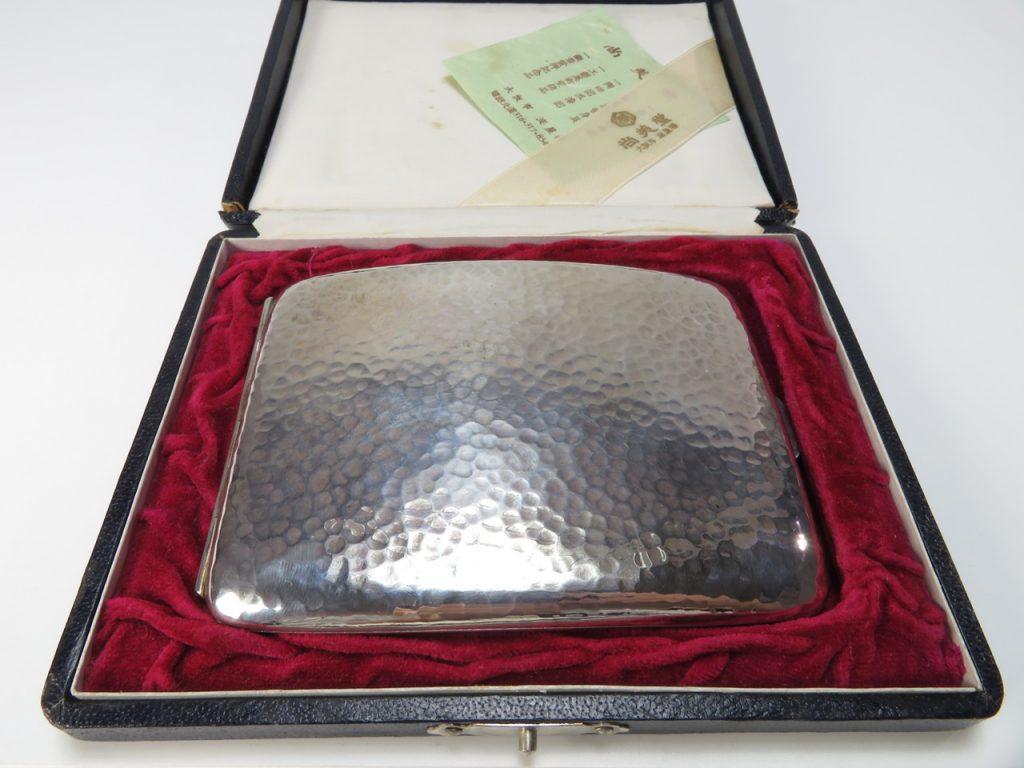 尚美堂 造「銀製化粧箱」 ※SILVER0.950