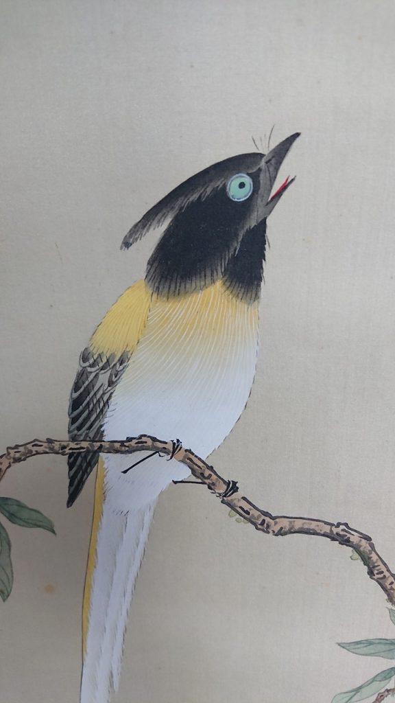 掛軸 色彩花鳥図