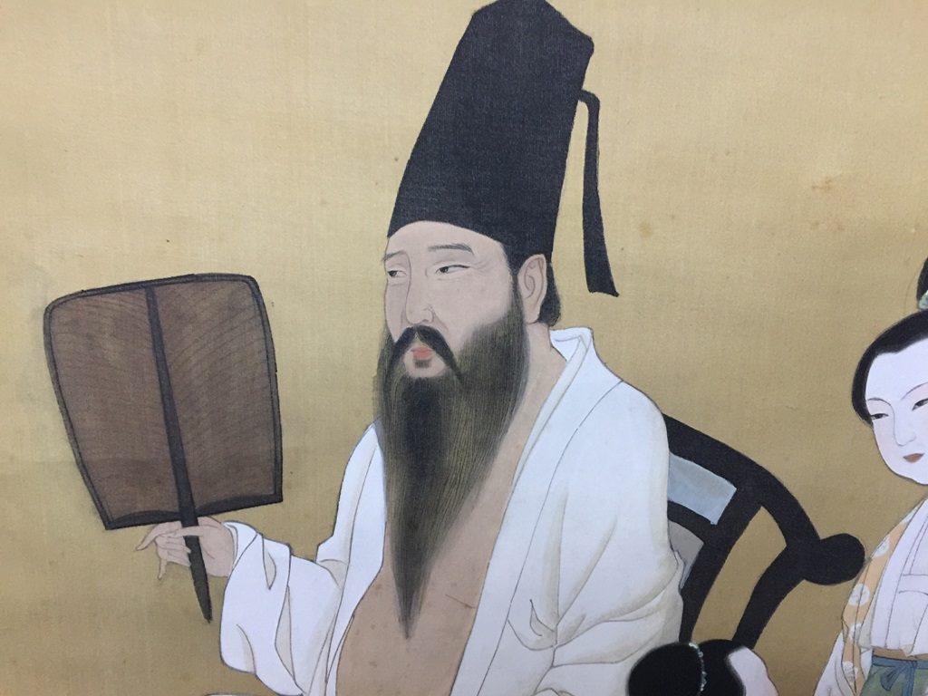 【中国骨董その他】中国軸  人物画を買取り致しました。