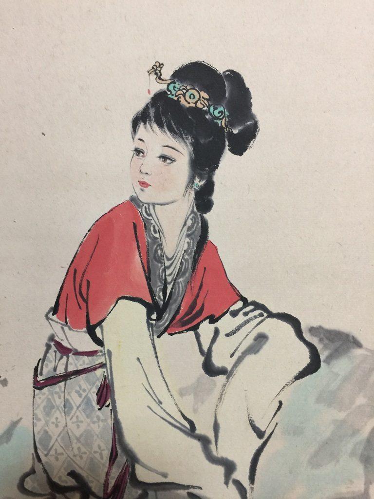 【中国骨董その他】中国軸 美人画を買取り致しました。