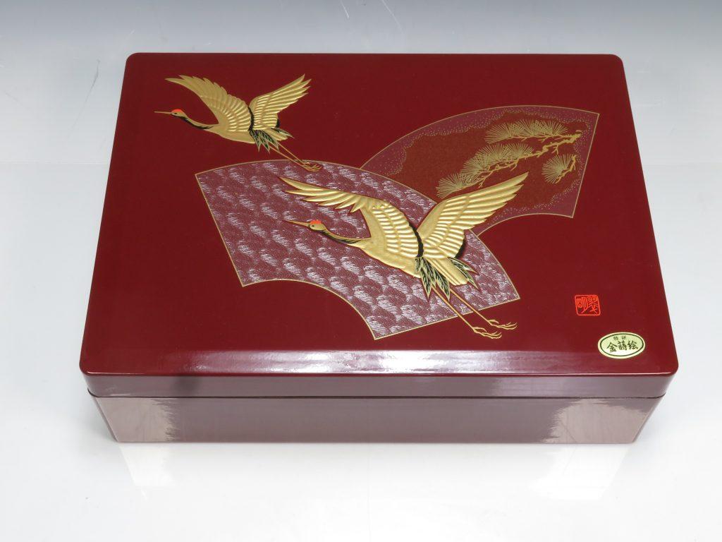 【漆器・蒔絵】無銘「双鶴蒔絵文小箱」を買取り致しました。