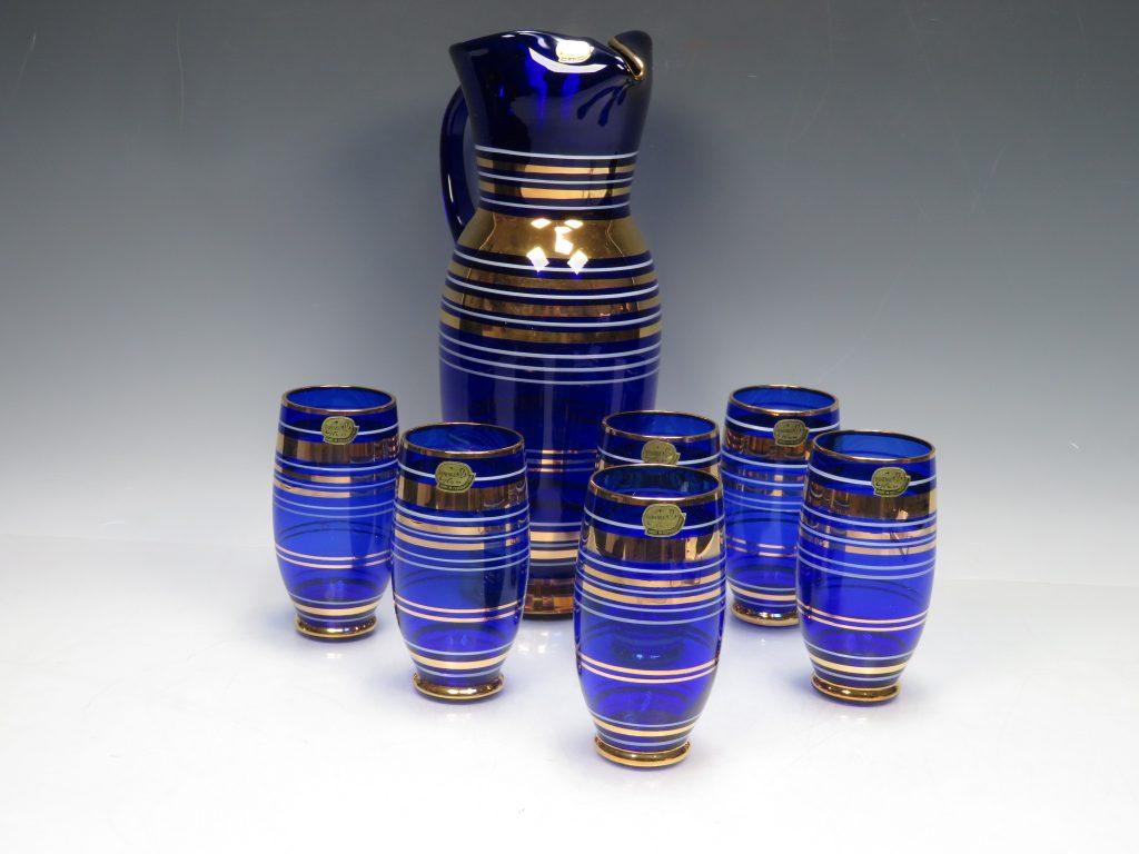 ボヘミアガラス ピッチャー&グラス