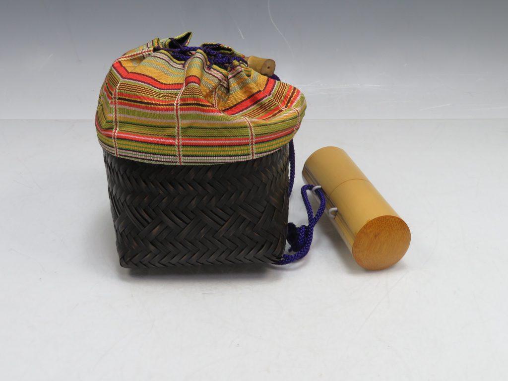 【茶道具 その他】野点茶道具 巾着籠を買取り致しました。