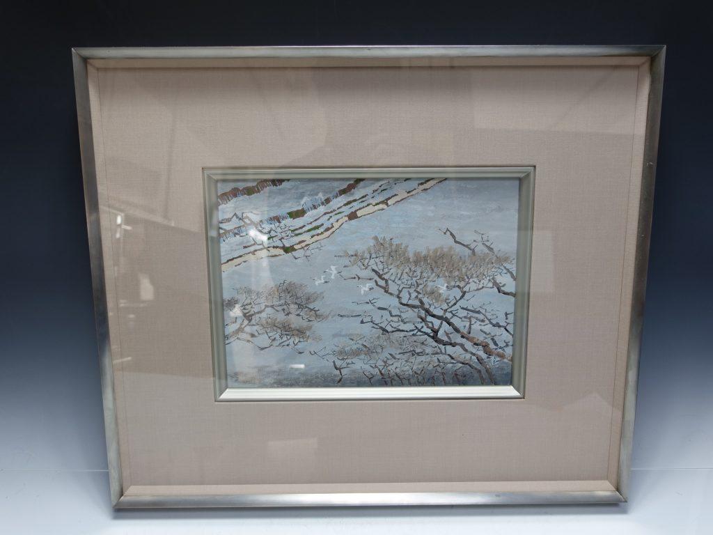 【日本画】池田遙邨 「鴨川の磧」を買取り致しました。