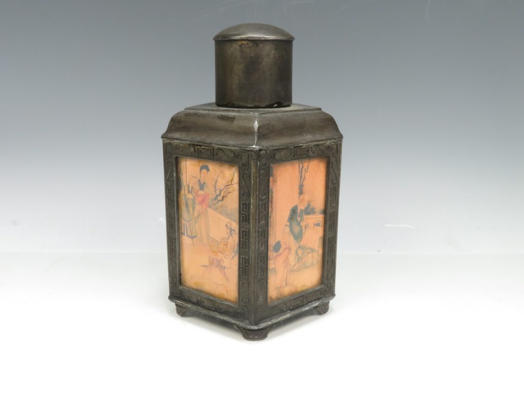 【中国骨董その他】古錫五角茶壺を買取り致しました。