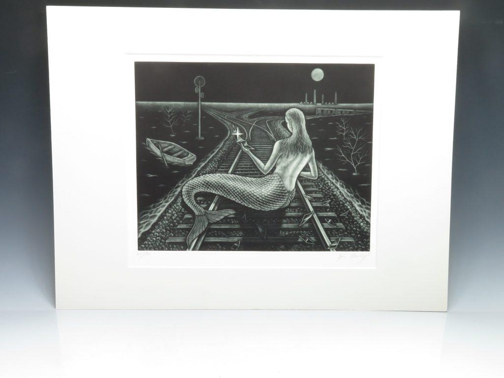 【版画 その他技法】梅木英治 銅版画 『洪水のあと』を買取り致しました。