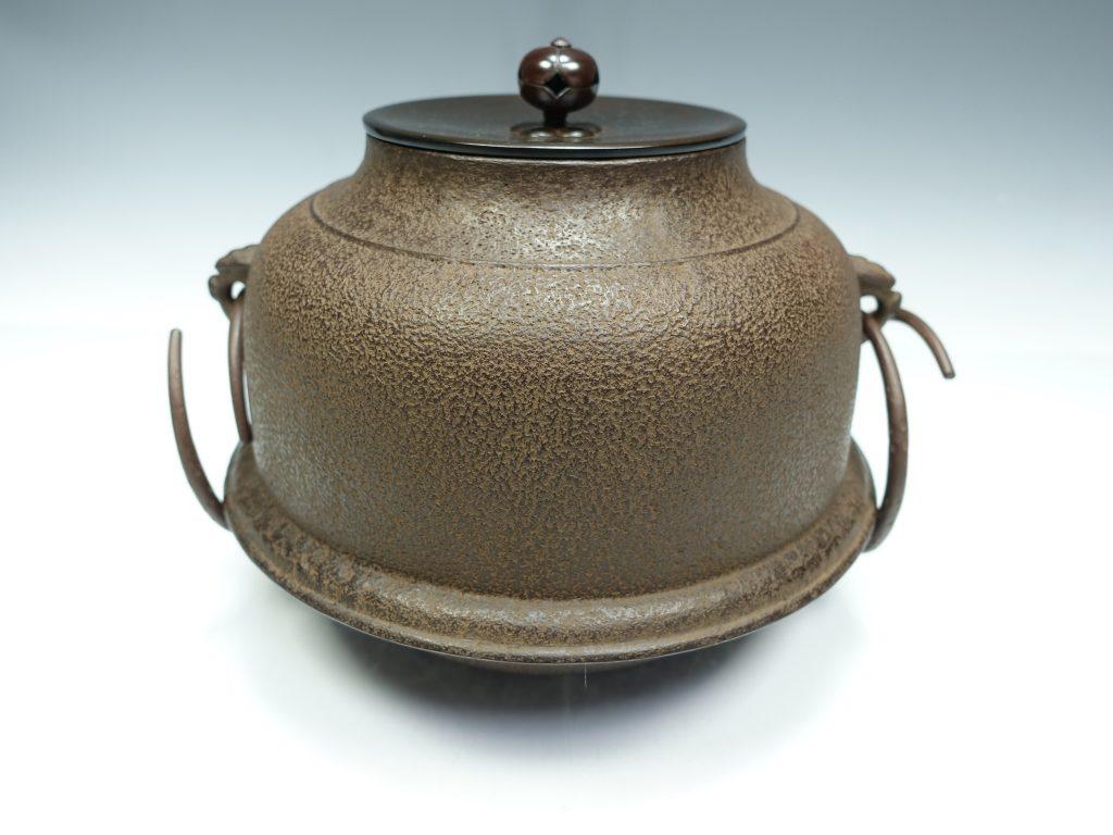 【釜】角谷沙村 「唐銅朝鮮風炉釜」を買取り致しました。