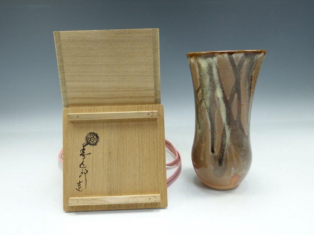 【陶磁器・作家物】十六代 永楽善五郎 花入を買取致しました。