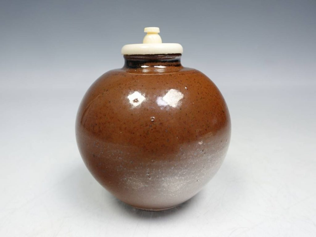 【茶道具・茶入】笹田有祥 「珠光文琳写の茶入」を買取致しました。