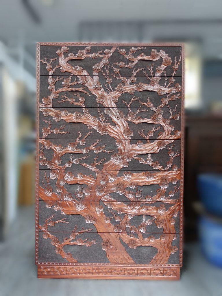 【時代箪笥】梅鎌倉彫箪笥を買取り致しました。