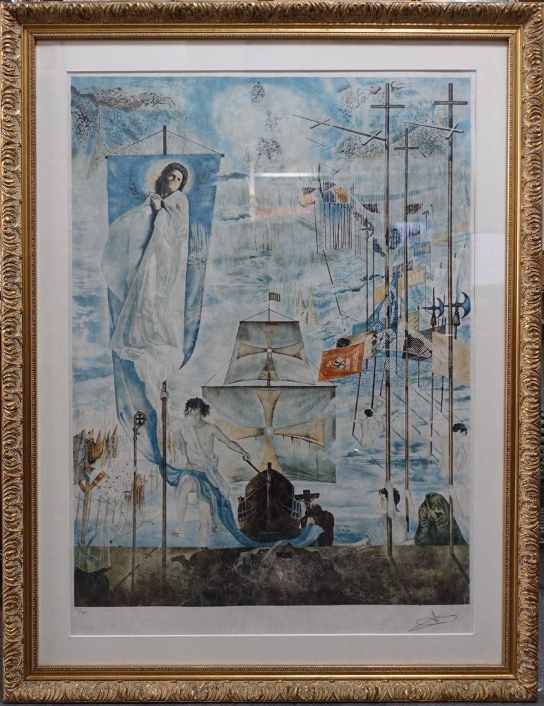 【絵画】サルバドール・ダリ 「クリストファー・コロンブスのアメリカの発見」を買取致しました。