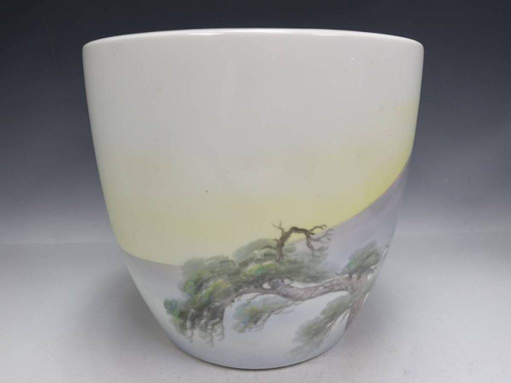 【火鉢】オールドノリタケ 富士図陶器火鉢を買取り致しました。