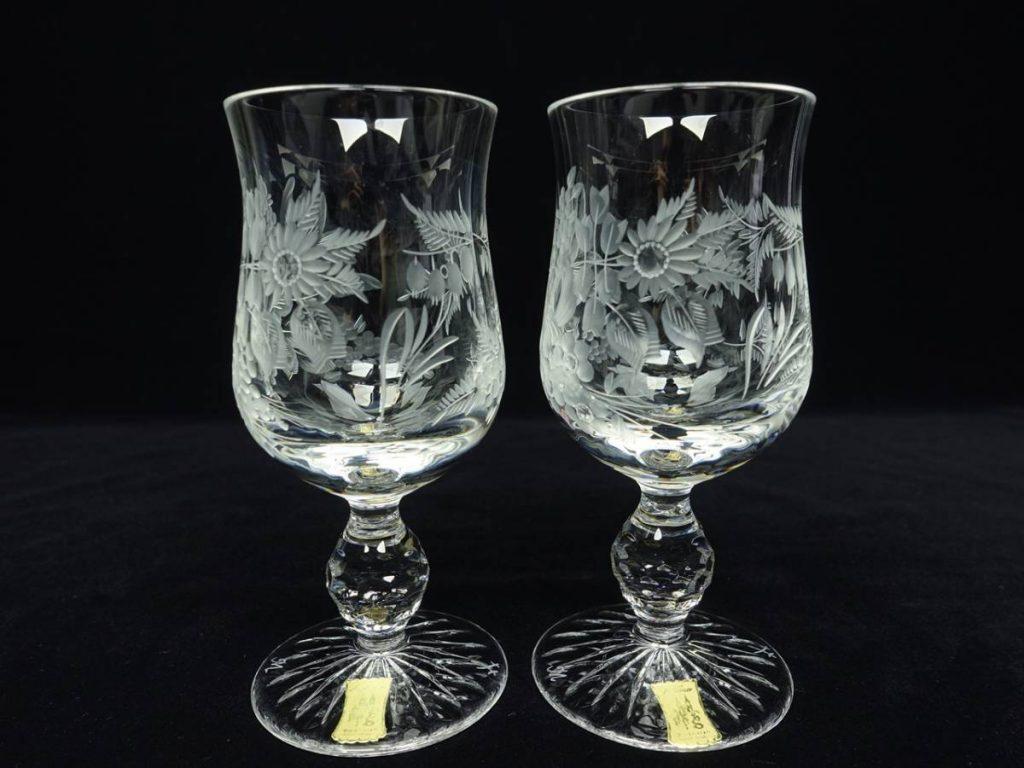 【骨董品・硝子】マイセンクリスタル フラワーカットグラスを買取致しました。