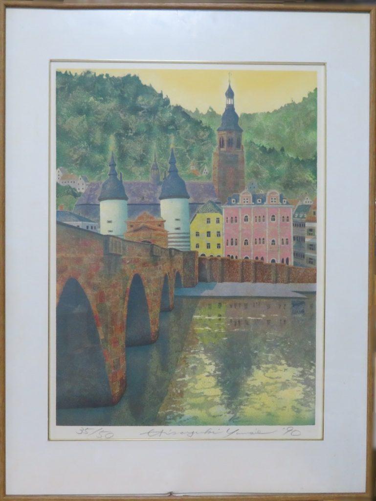 【絵画・版画】山家久幸 「サンピエトロ郊外」を買取致しました。