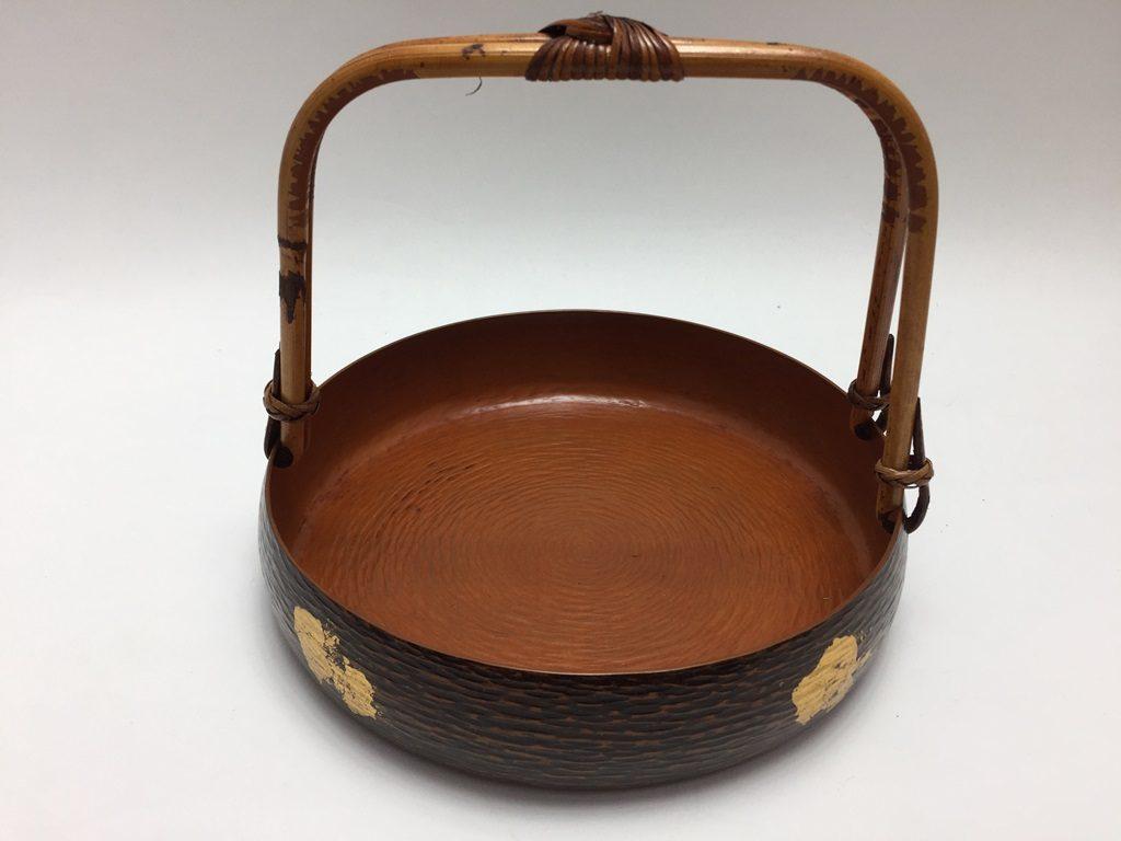 【骨董品】栄俊斎「宣徳ツル付菓子器」を買取致しました。