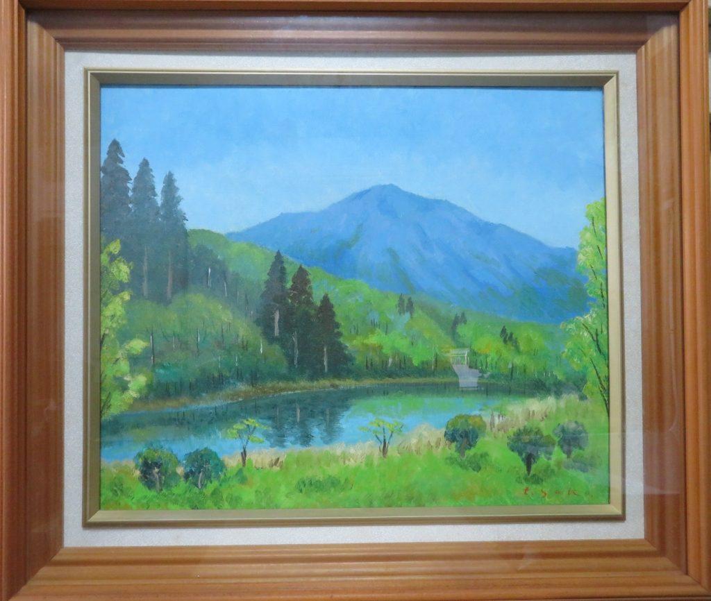 【油彩画(日本)】佐古藤三郎 「熊野街道」を買取り致しました。
