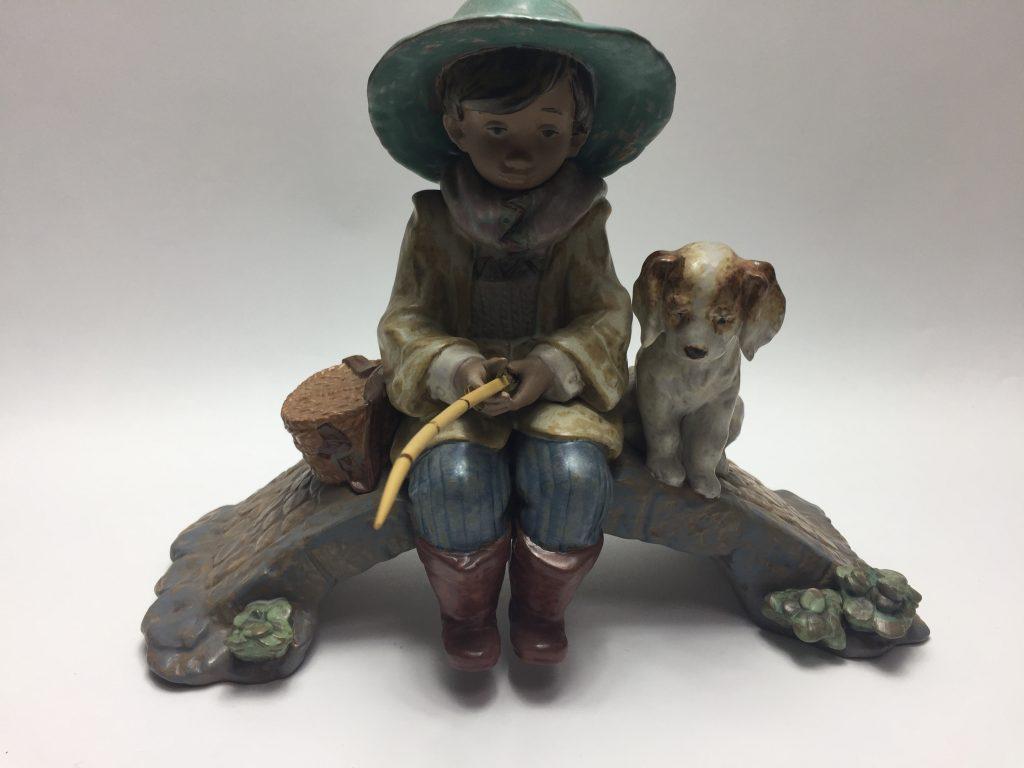 【西洋美術】LLADRO(リヤドロ)「子犬と釣り人」を買取致しました。