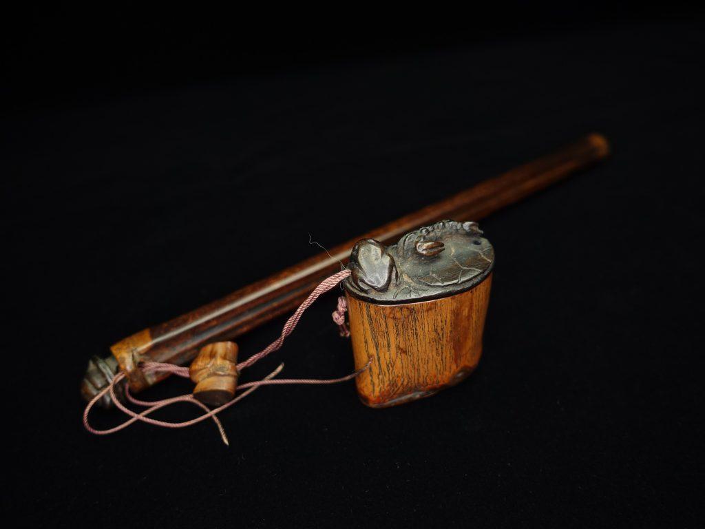 【硯・書道具】「印籠形竹製矢立」を買取り致しました。