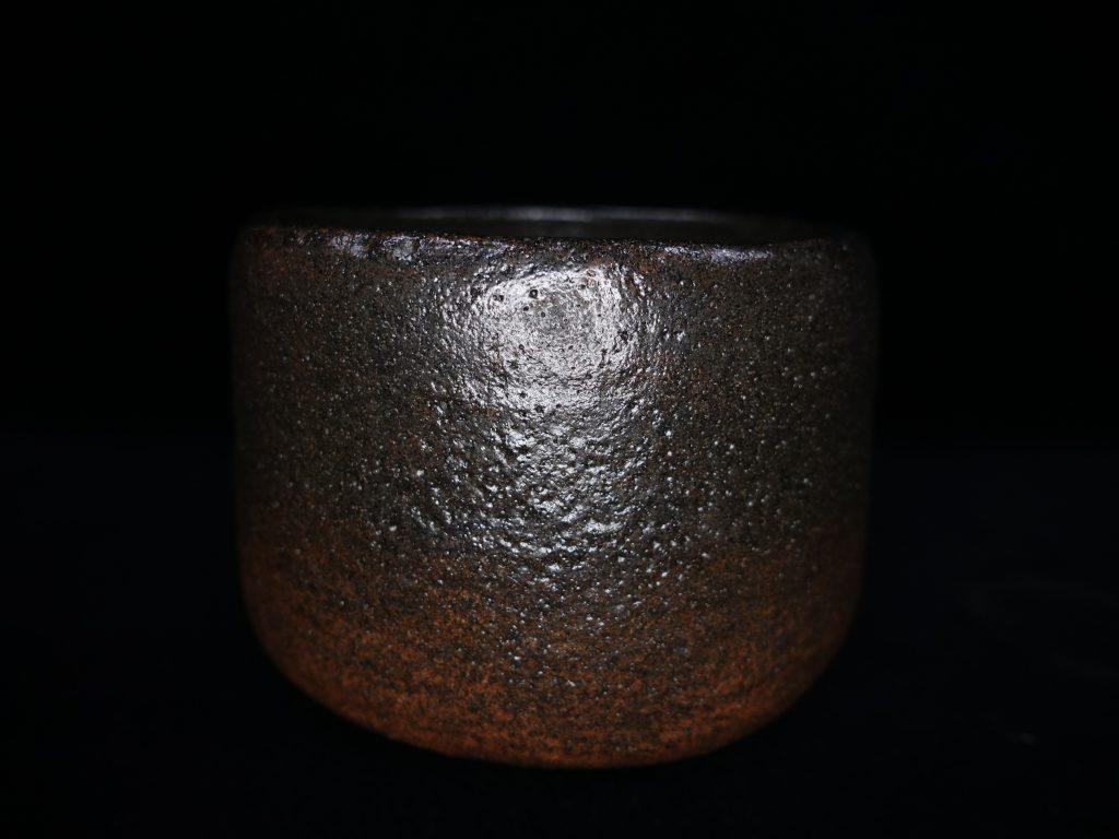 【茶碗】佐々木昭楽「長次郎本覚坊写し黒茶碗」を買取り致しました。