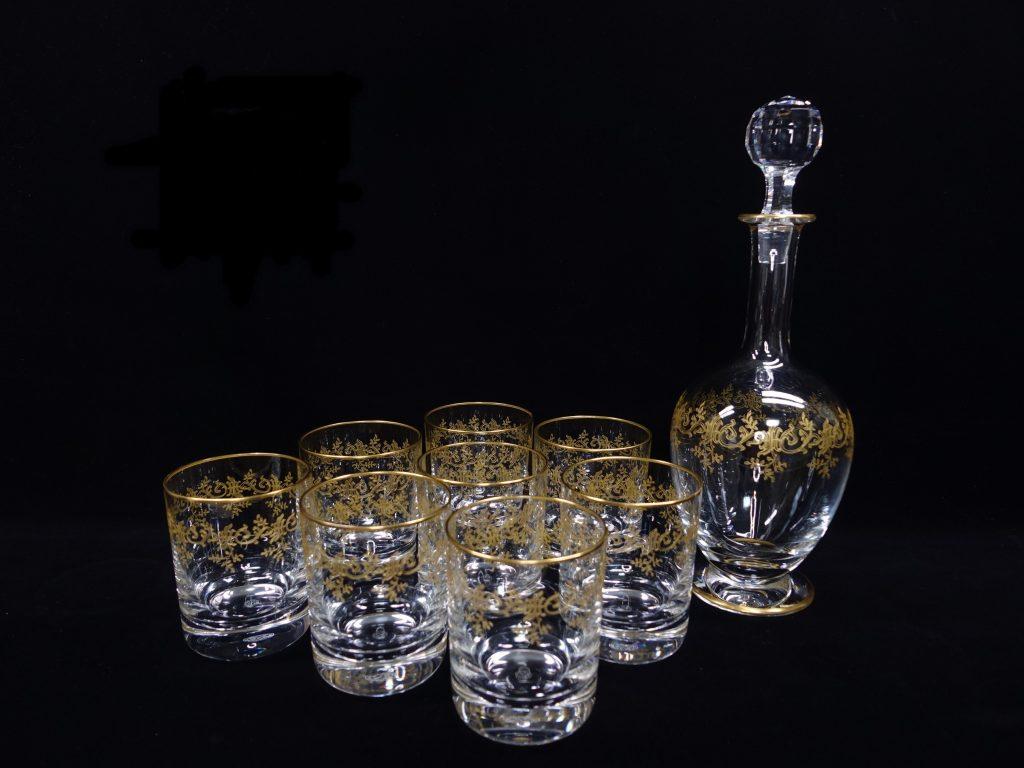 【バカラ】Baccarat「セビーヌ金彩グラス8客・デキャンタ」を買取致しました。